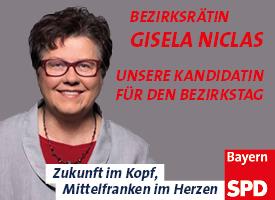 Bezirksrätin Gisela Niclas. Unsere Kandidatin für den Bezirkstag