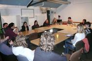 Blick auf die Diskussionsrunde zum Thema Jugendliche in der Erlanger Innenstadt