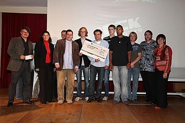 Gruppenbild der Preisträger vom Ansbacher Rock gegen Rechts