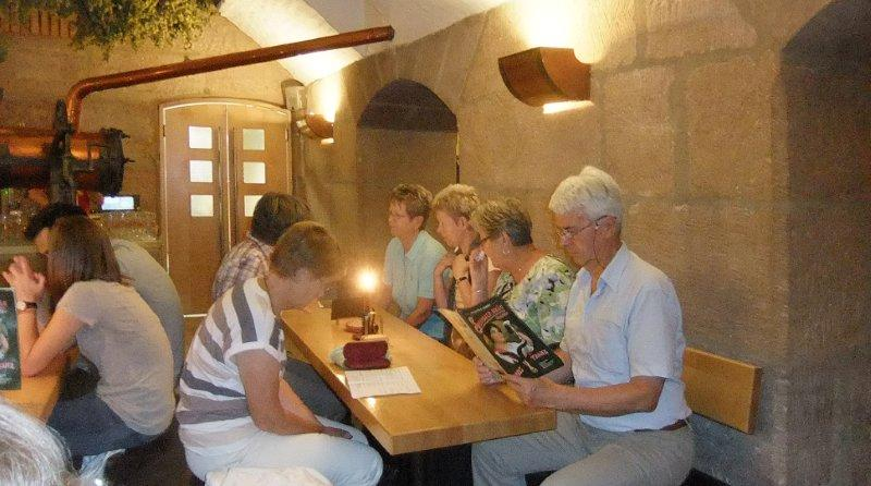 Besuchergruppe im Steinbach-Bräu