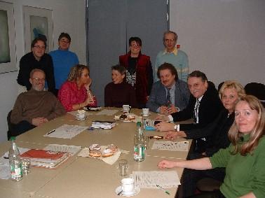 Gruppenbild vom Treffen der Stadtratsfraktion Erlangen und der Kreistagsfraktion Erlangen-Höchstadt