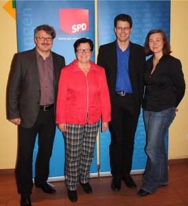 Rosner, Niclas, Dees, Radue bei der Stimmkreiskonferenze