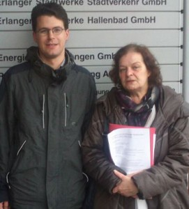 Philipp Dees und Angelika Weikert bei den Erlanger Stadtwerken