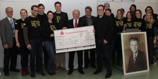 Gruppenbild der Preisträgerinnen und Preisträger des Peter-Zink-Preises 2013