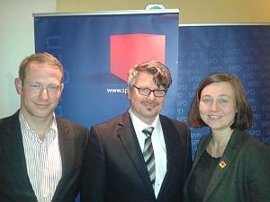 Dirk Goldenstein, Dieter Rosner und Sandra Radue (von links)