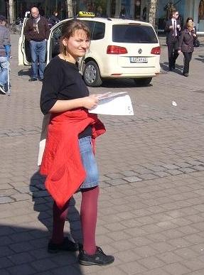 Katrin Hurle bei der Aktion