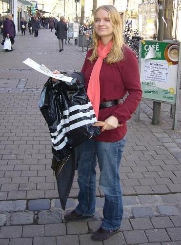Nina Gunkelmann bei der Aktion