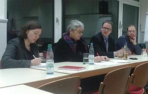 Durch die Veranstaltung führten (von links) Sandra Radue, Barbara Pfister und Dr. Florian Janik
