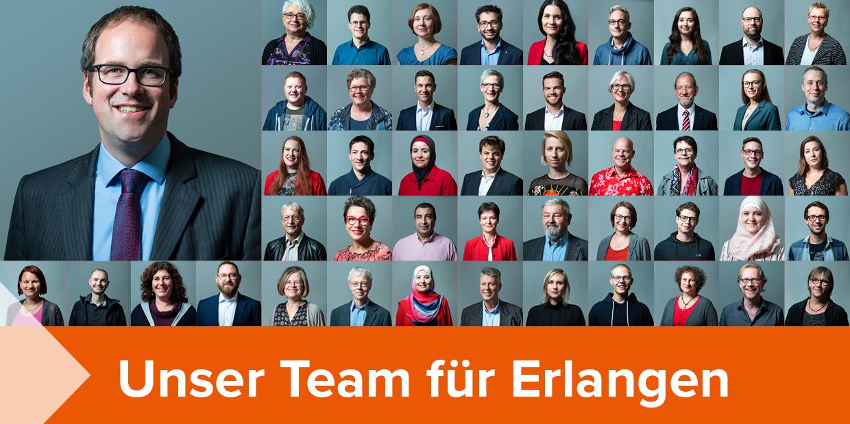 Unser Team für Erlangen: Informationen zu den Stadtratskandidatinnen und Stadtratskandidaten der SPD Erlangen