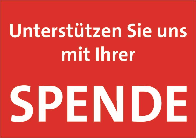 Verweis auf Kontodaten SPD für Spenden